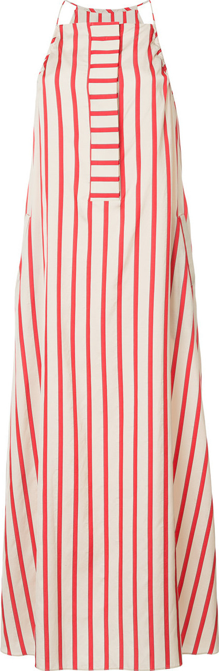 Christopher Esber Striped maxi tank dress