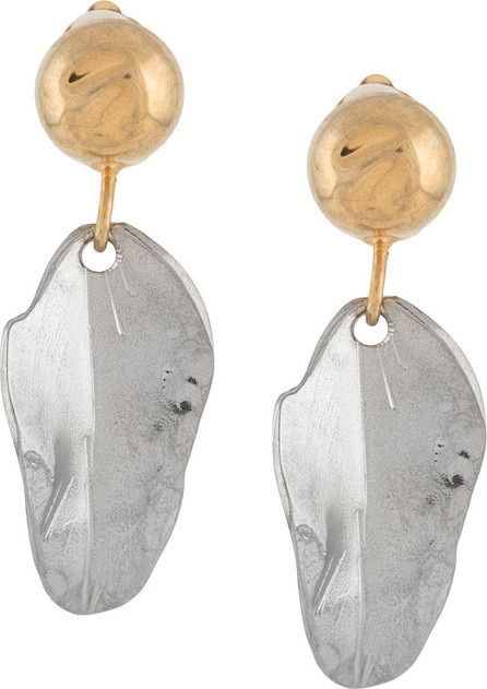 Marni Leaf drop clip-on earrings