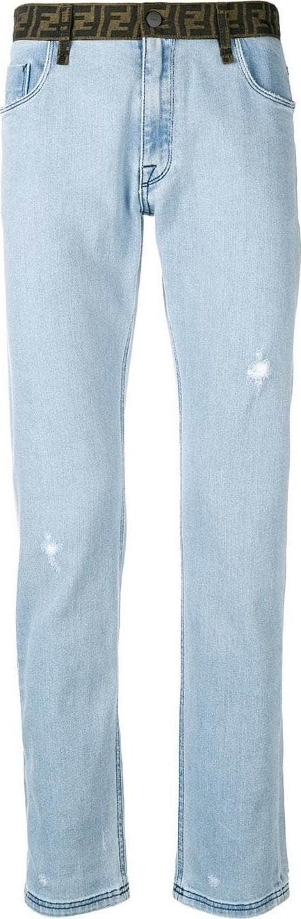 Fendi Logo waist jeans