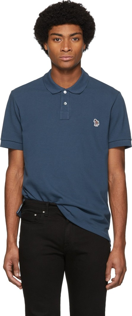 Ps By Paul Smith Blue Zebra Slim Polo