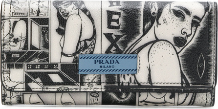 Prada Logo printed wallet
