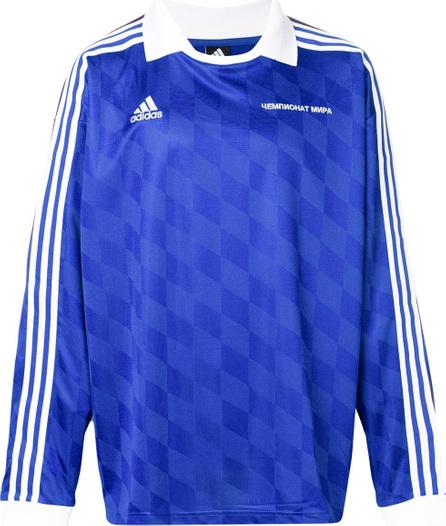 Gosha Rubchinskiy Gosha Rubchinskiy x Adidas logo long-sleeve polo top