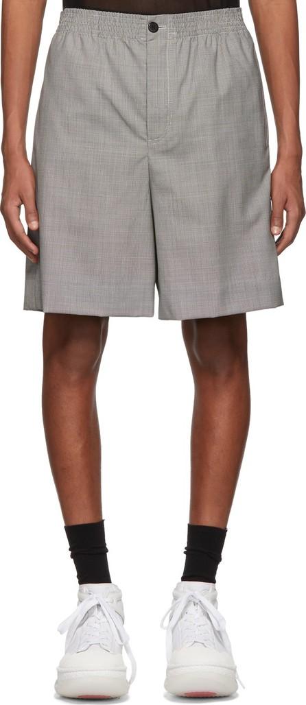 Alexander Wang Black & White Wool Houndstooth Shorts