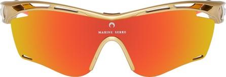 Marine Serre Gold & Orange Rudy Project Edition Tralyx Slim Moon Sunglasses