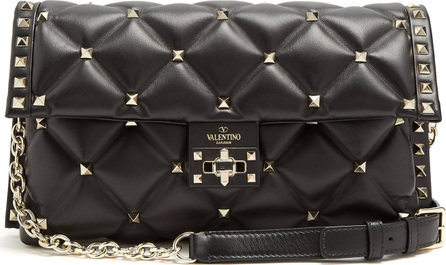 Valentino Candystud quilted-leather clutch