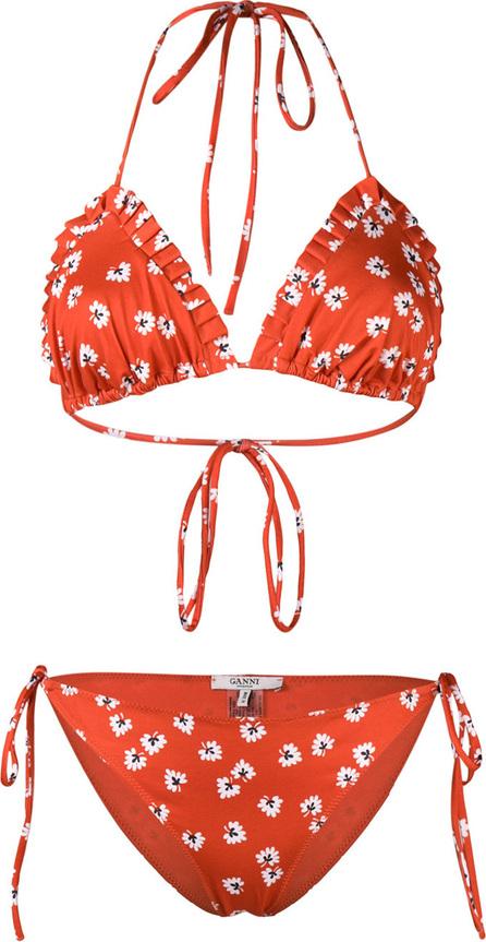 Ganni Floral print bikini