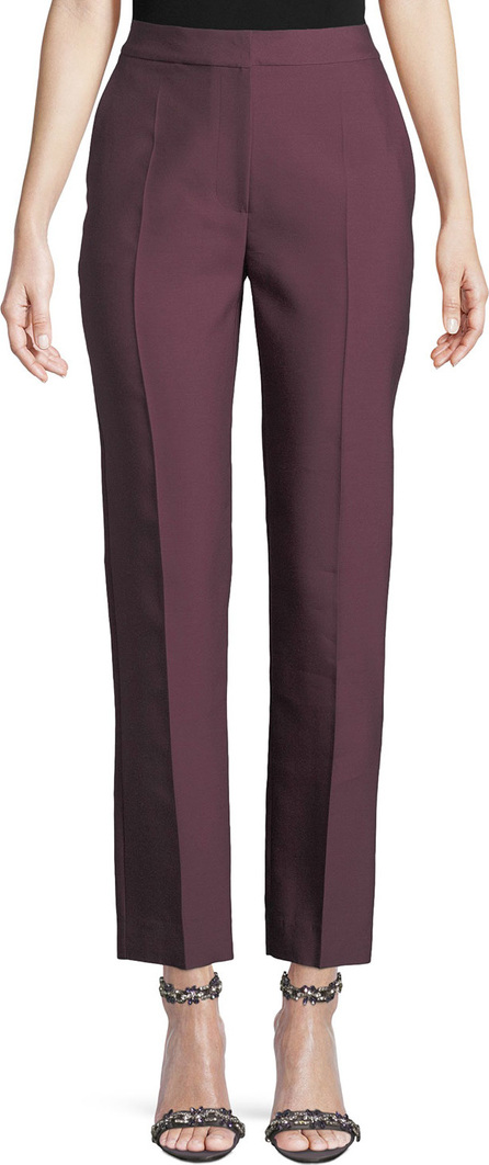 Roksanda High-Rise Straight-Leg Wool/Silk Pants