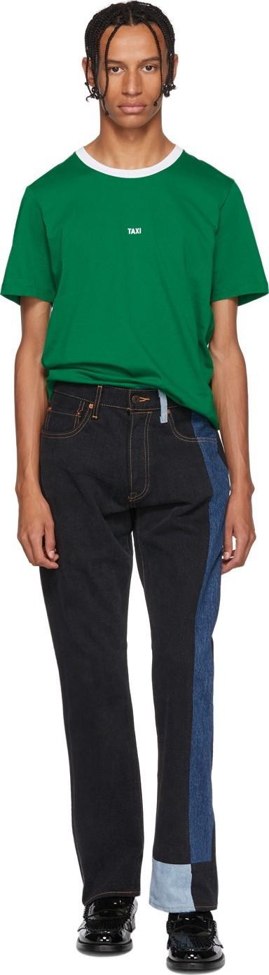 Gosha Rubchinskiy Black & Blue Levi's Edition 501 Patchwork Jeans