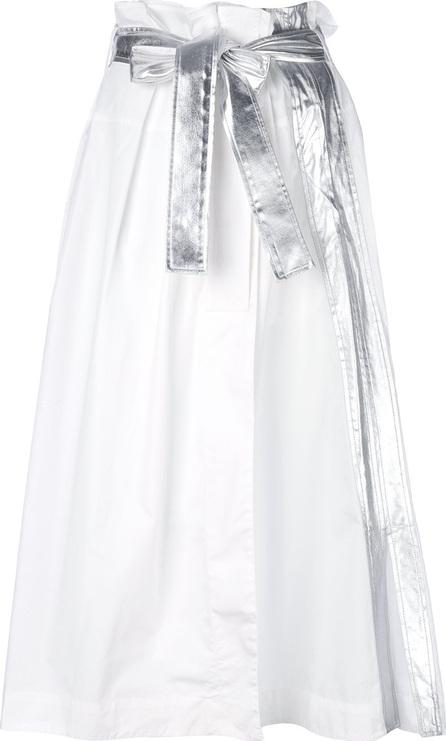 Tie waist long skirt