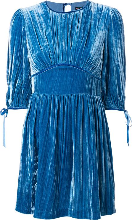 Alexa Chung pleated velvet mini dress