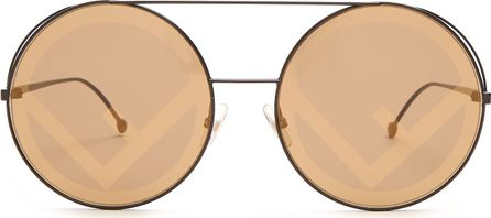 Fendi Round-frame metal sunglasses