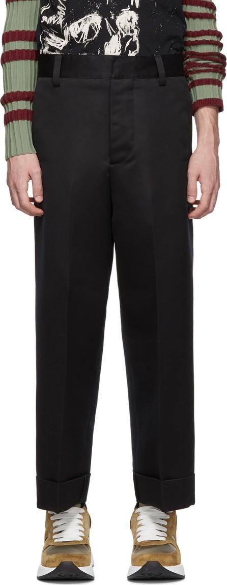 Alexander McQueen Black Wide Trousers