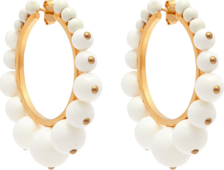 Aurelie Bidermann Ana bead-embellished hoop earrings