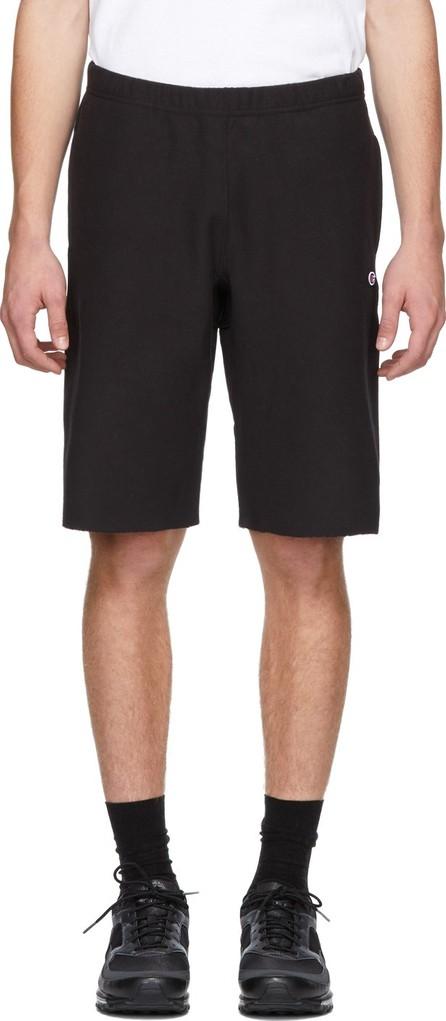 Champion Reverse Weave Black Logo Bermuda Shorts