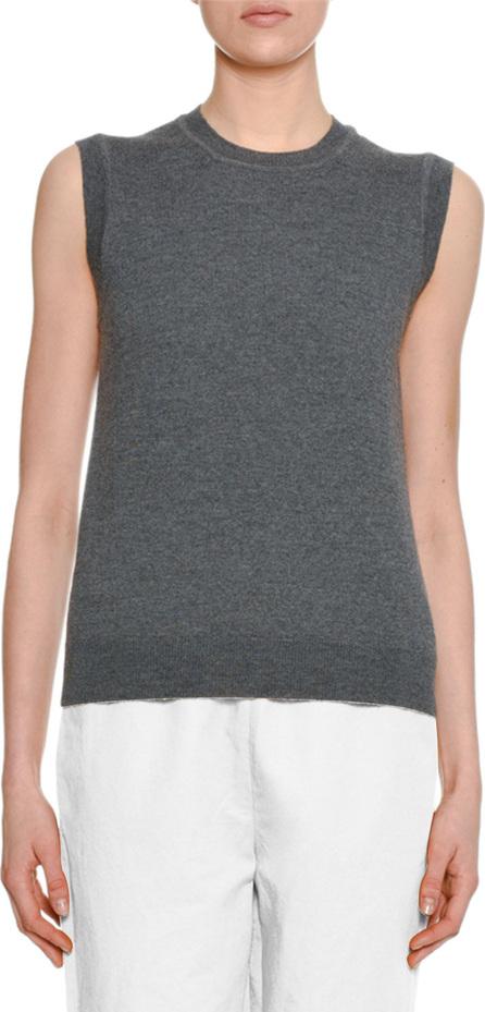 Marni Sleeveless Wool Sweater w/ Silk Printed Back