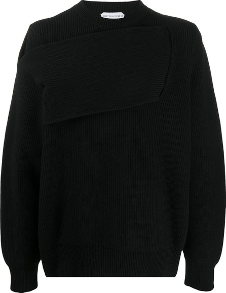 Bottega Veneta Deconstructed-effect ribbed jumper