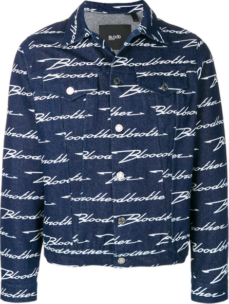 Blood Brother Monogram print denim jacket