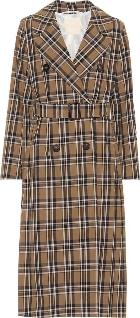 Max Mara Finanza plaid cotton trench coat