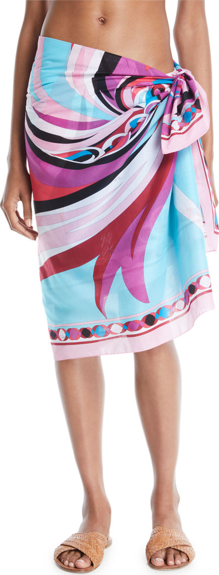 Emilio Pucci Parrot-Print Cotton Pareo Coverup