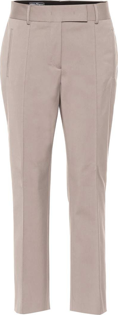Salvatore Ferragamo Stretch cotton-blend pants