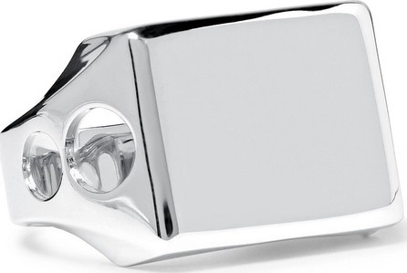 A.P.C. Silver-Tone Signet Ring