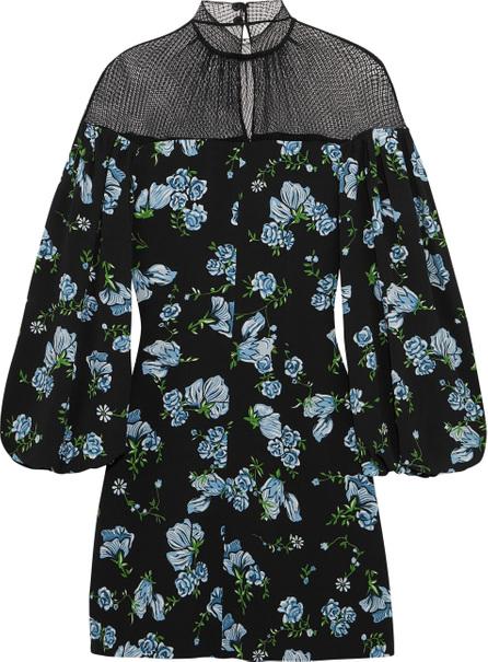 Emilia Wickstead Femie mesh-paneled floral-print crepe mini dress