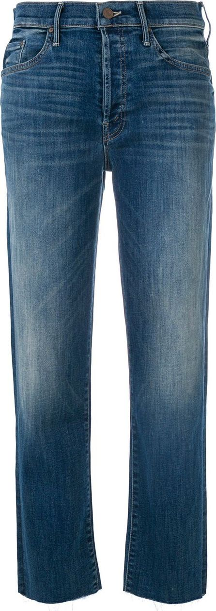 MOTHER Straight leg cropped trousers