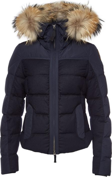 Parajumpers Koko Down Jacket with Virgin Wool and Fur