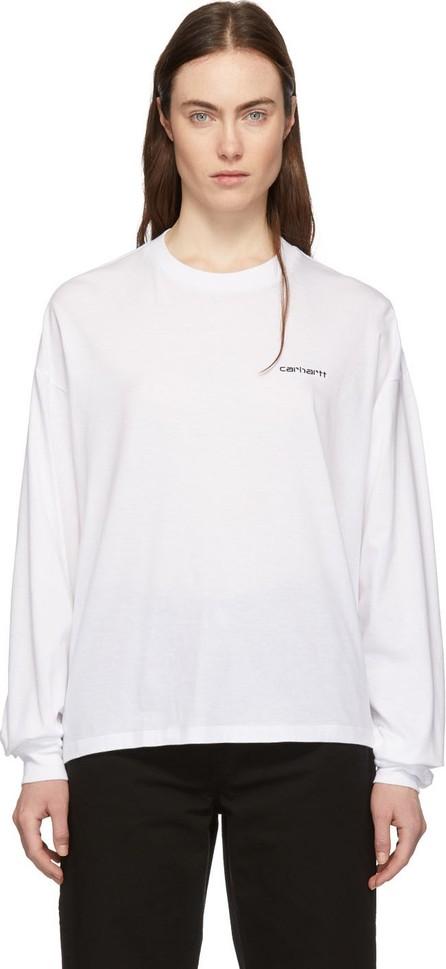 Carhartt Work In Progress White Script Embroidery T-Shirt