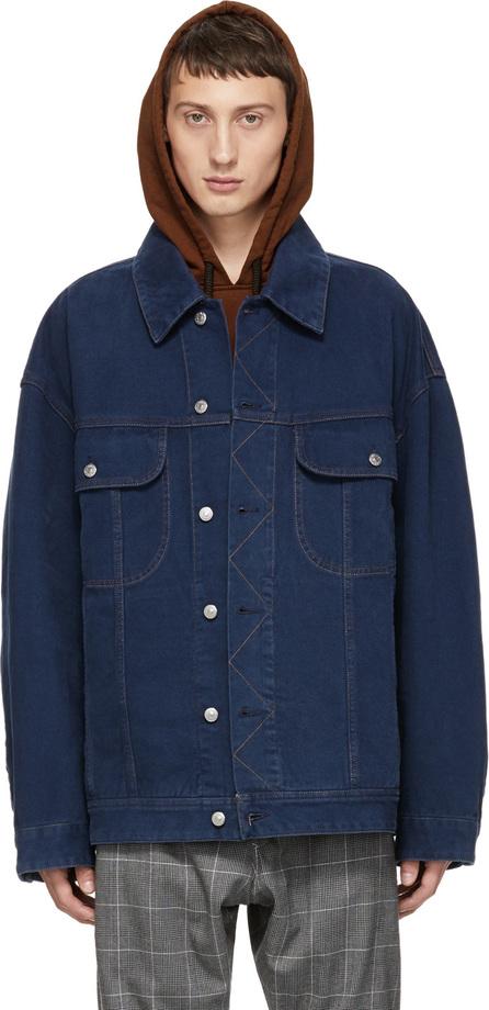 Acne Studios Blå Konst Blue Oversized Denim Jacket