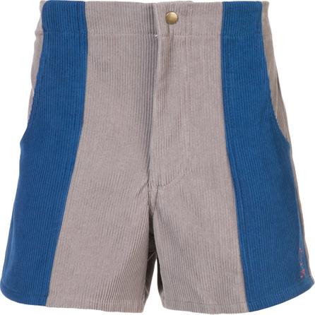 Adaptation Colour block ribbed shorts