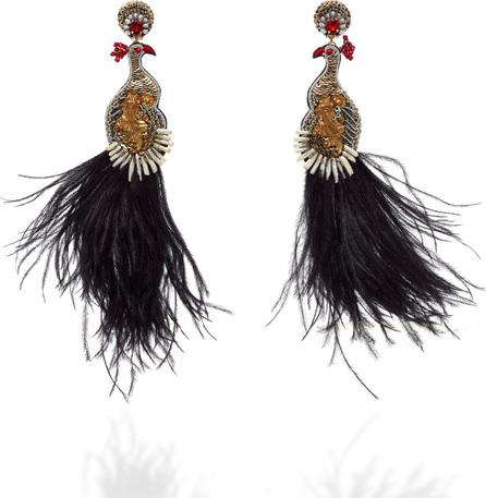 Ranjana Khan Teresa Feather Embellished Earrings