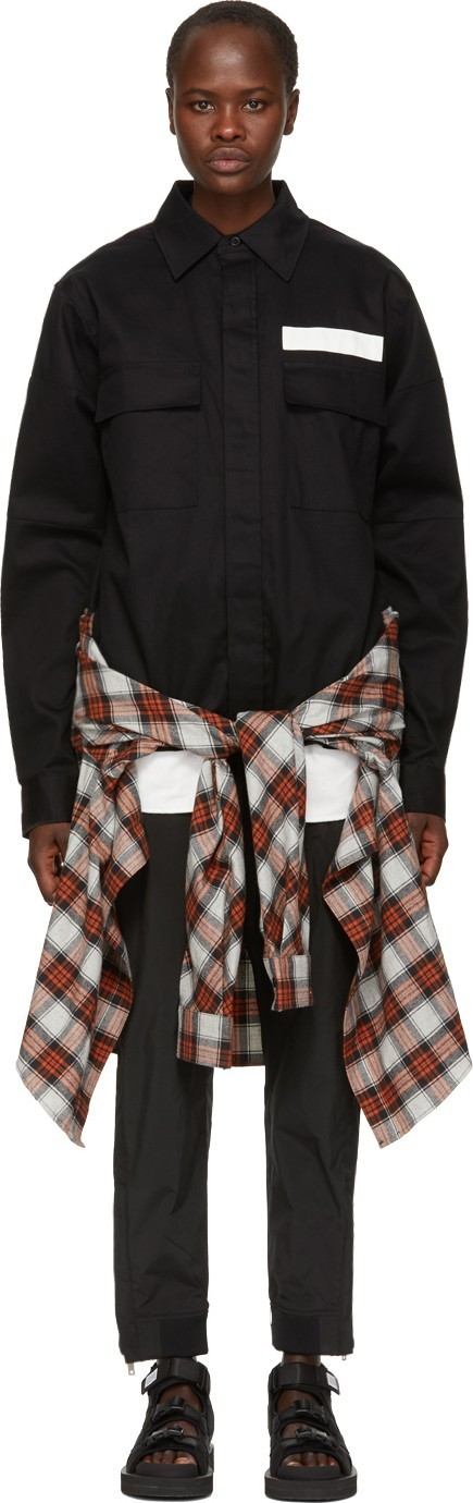 Ambush SSENSE Exclusive Black Nobo Waist Tie Shirt