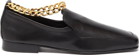 By Far Nick ankle chain square toe loafers