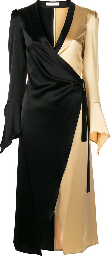 Ssheena Colour block wrap dress