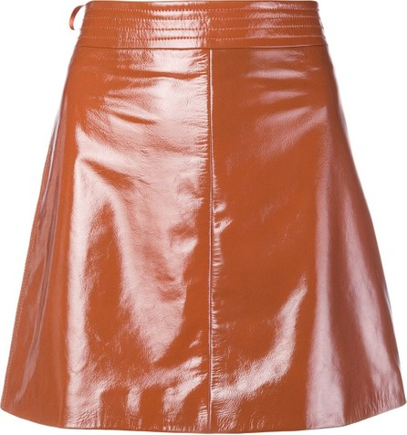 Arma Patent A-line skirt