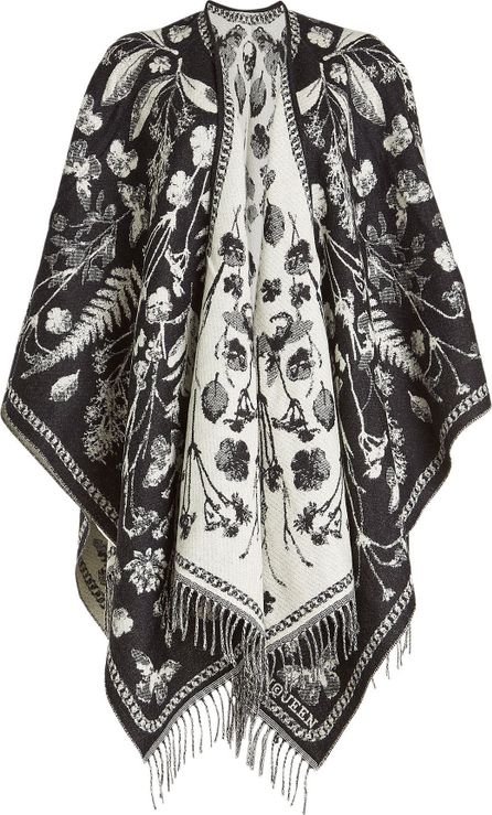 Alexander McQueen Printed Wool Cape