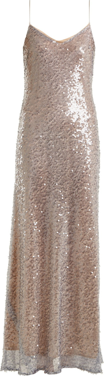 Galvan Estrella bias-cut sequin-embellished gown