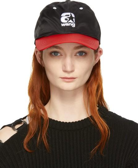 Alexander Wang Red & Black Nylon Baseball Cap
