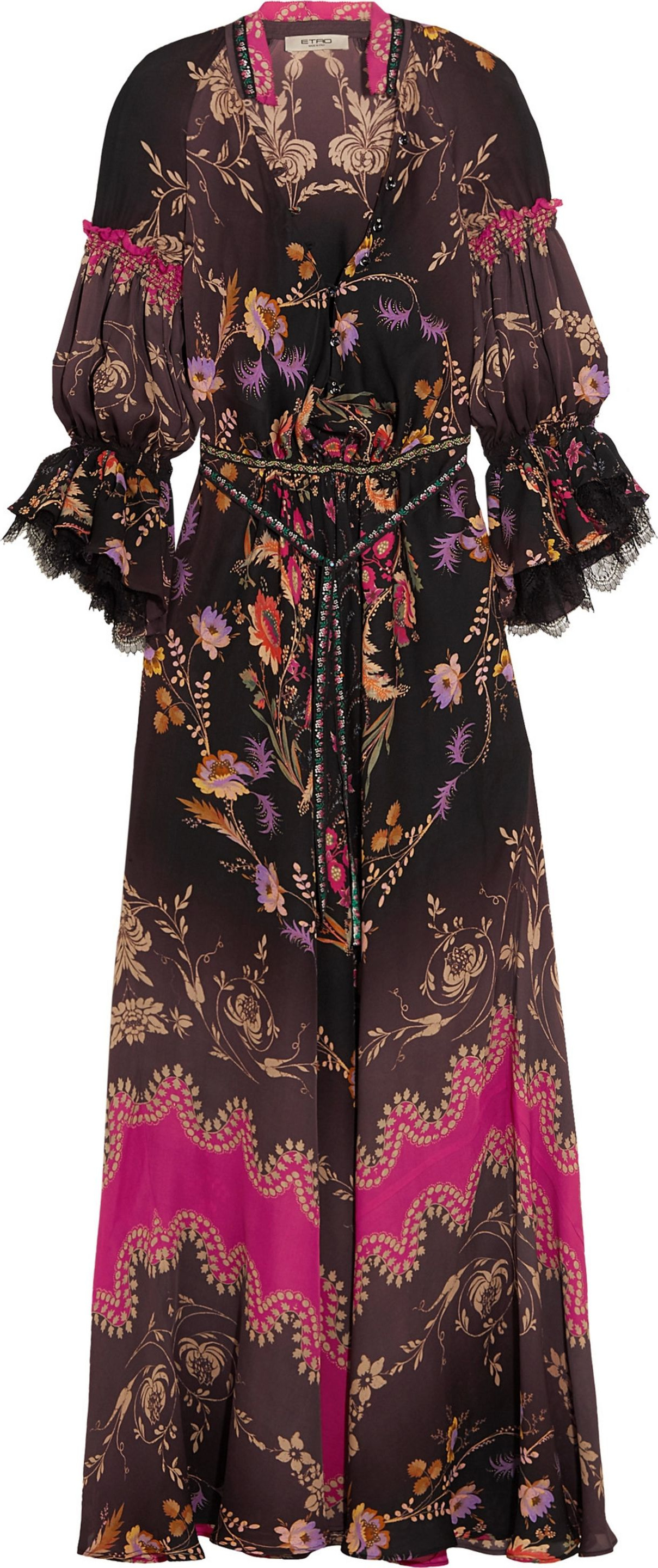Etro - Printed silk crepe de chine gown