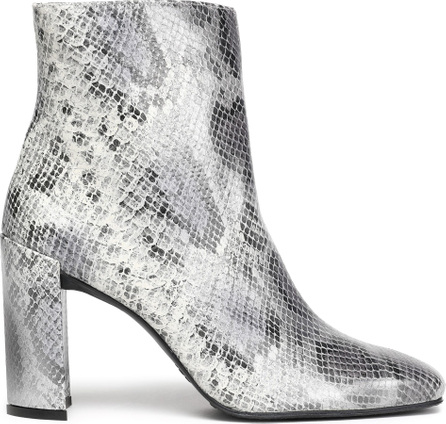 Stuart Weitzman Vigor snake-effect leather ankle boots