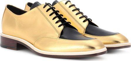 Lanvin Metallic leather Derby shoes