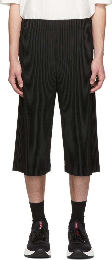 Homme Plissé Issey Miyake Black Long Pleat Shorts