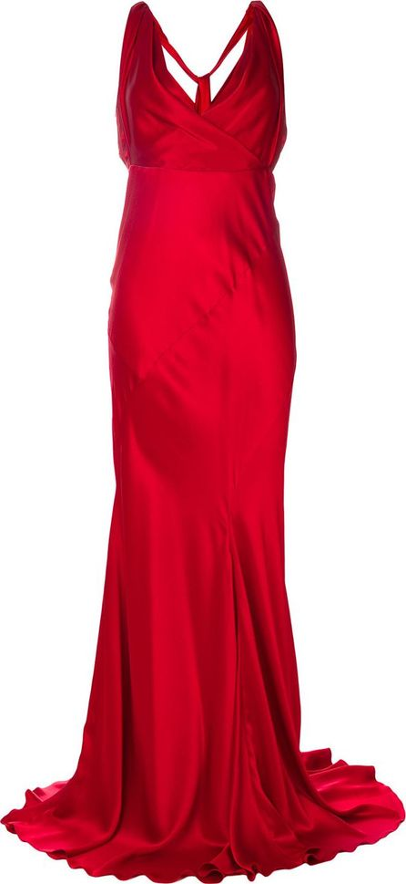 Alberta Ferretti maxi evening silk dress