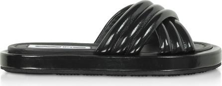 McQ - Alexander McQueen Black Venture Slide Sandals