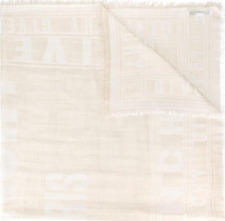 Givenchy logo intarsia scarf