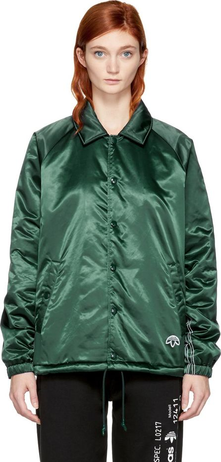 Adidas Originals by Alexander Wang Green Nylon Coach Jacket