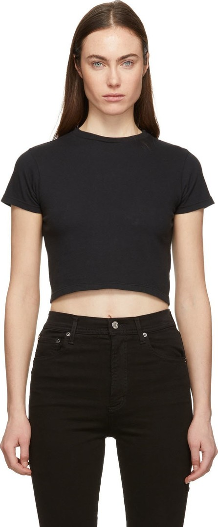 Agolde Black Cropped Baby T-Shirt