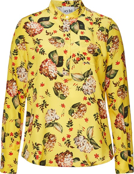 Aybi Blanche Floral Silk Blouse