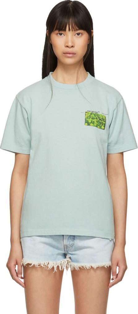 Off White Blue Flowers T-Shirt